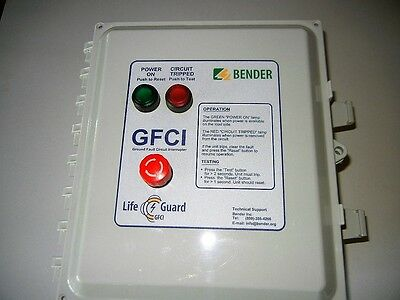 Bender Lifeguard Ground Fault Circuit Interrupter  LG2-40-480-3/3-C-4X-P-S GFCI
