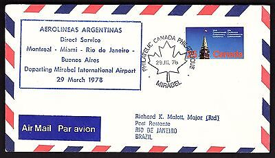 FFC MONTREAL QUEBEC TO BUENOS AIRES, MAJOR MALOTT (TAMOCAN 7803b)(K2089)