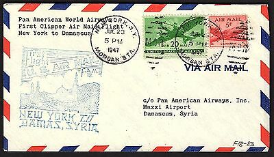 Ffc Pan Am Clipper New York To Damascus  F18-83 (K2351)