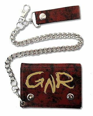 Guns N Roses Blood A/O w/ Skull Black Red Chain Wallet New Official GNR Axl Rose