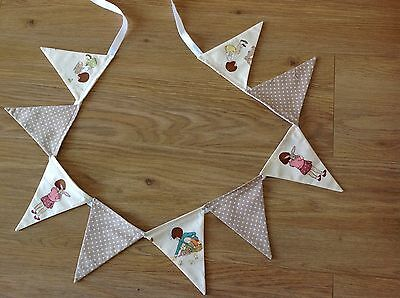 BELLE AND BOO FABRIC MINI BUNTING With Beige Spot - chicks, Rabbit
