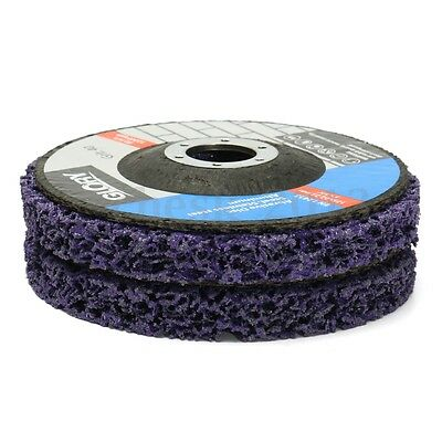 5'' 2 x 125mm Poly Strip Disc Wheel Paint Rust Removal Clean For Angle Grinder