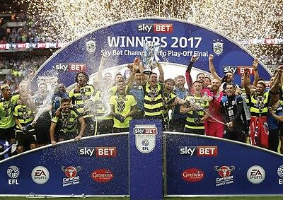 Huddersfield Town Championship Play Off Winners 2017 Celebrate POSTER