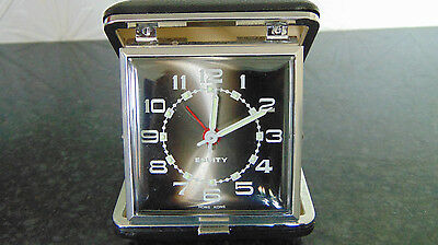 Boxed Folding Wind Up Equity Travel Alarm Clock GWO
