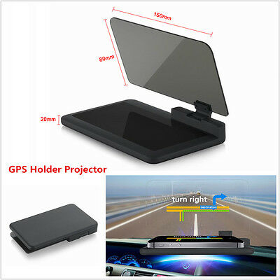 "6"" Car HUD Head Up Display Projector Phone Navigation GPS Holder Non-slip Mat H6"