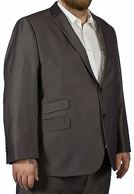 Big Mens McCarthy Cristiano Easy Fit Jacket Charcoal