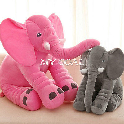 Baby Kids Children Long Nose Elephant Doll Soft Plush Stuff Toys Lumbar Pillow