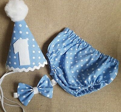 ***Boys Baby Photo Prop Blue Spot Outfit - 1st Birthday/Cake Smash ***
