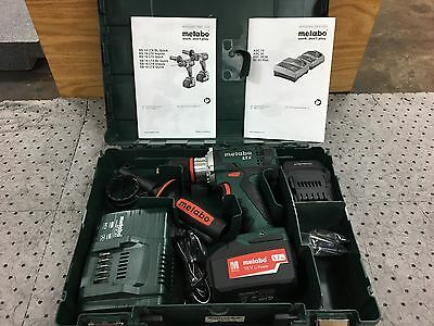 "Metabo Cordless Drill Kit w/ 2 Batteries and Charger 1/2"" Chuck 18 Volt BS18LTX"