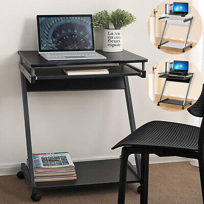 Corner Computer Desk Small Spaces on Castors PC Table Bedroom Home Office Study