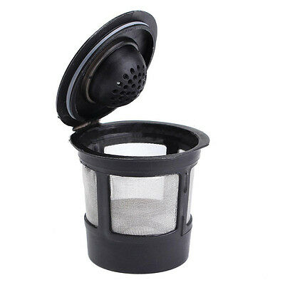 Reusable Single Cup For Keurig Solo Filter Pod Coffee Stainless Mesh Black 1Pc
