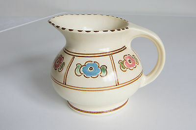 Hand Painted Decorative Arts Vintage Honiton Devon Pottery Creamer Jug BICTON