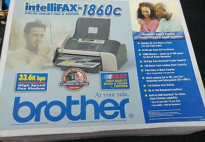 Brand New Brother Intellifax 1860C Color Inkjet Fax & Copier New Old Stock Read