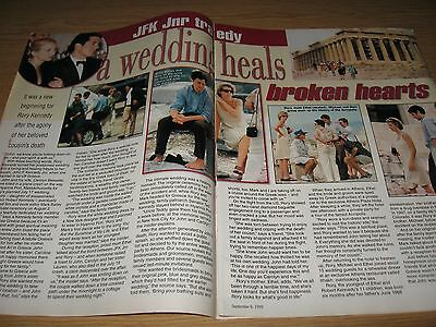 RORY KENNEDY JFK Jnr CAROLYN BESSETTE - 2 page magazine clipping from Year 1999