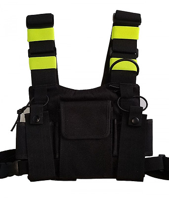 Security Scout Radio Chest Holder Strap Harness Rig Pack Holster for Walki Talk