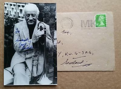Autographed Vintage 4x6 Photo of George Chisholm - The Goons SIGNED + envelope