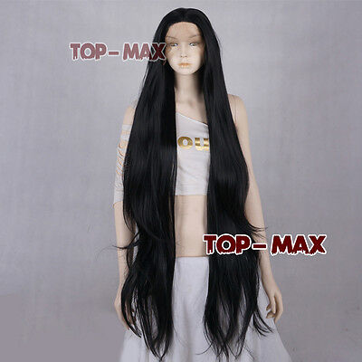 30 Inches Black Long Wavy Women Fashion Lace Front Wig