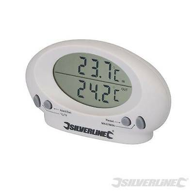 Twin Display Indoor Outdoor Thermometer Garden Room Inside Outside  Temperature