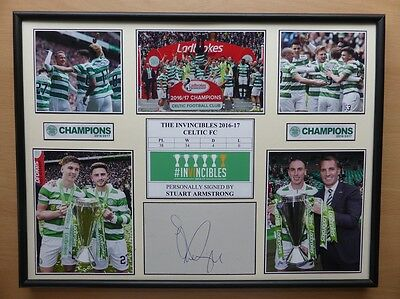 2016-17 Celtic The Invincibles Unique Display Signed by Stuart Armstrong (11060)