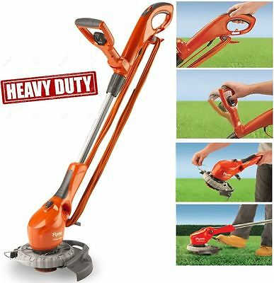 Flymo heavy duty corded 650E contour grass strimmer trimmer lawn edger