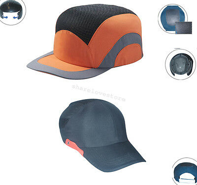 Blue Orange Worker Baseball Bump Lightweight Safety Hard Hat Head Protection Cap