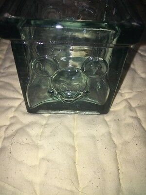 Nice Mickey Mouse Disney SQUARE Glass Votive Or Tea Light Candle Holder