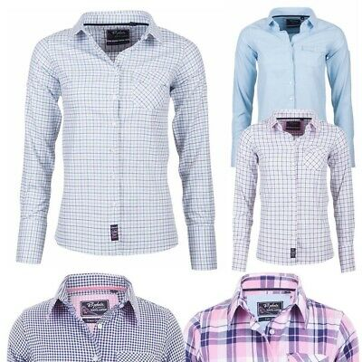 Ladies Brushed Cotton Shirt Check or Stripe Country Shirts for Women by Rydale
