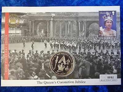 St Helena Proof 50p Fifty Pence 2003 Coronation Jubilee PNC