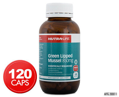 Nutralife Green Lipped Mussel 850mg 120 Capsules