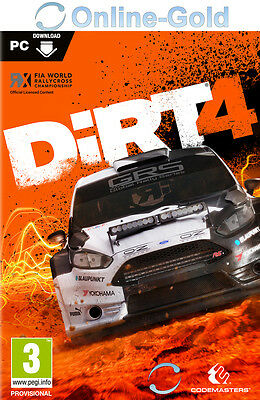 DiRT 4 IV - PC Online Game Code - Steam Digital Download Key [Rennspiele] EU/DE