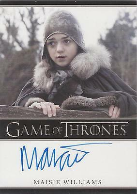"Game of Thrones Season 1 - Maisie Williams ""Arya Stark"" Autograph Card"
