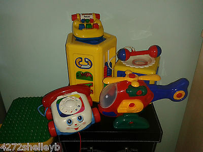 Baby Toys Abc,123,shapes,tomy Cube & Register,fisher Price Telephone