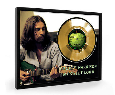 George Harrison My Sweet Lord Framed Gold Disc Display Vinyl (C1)