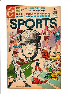 """All American Sports #1  [1967 Fn+]  """"a Life & Death Decision"""""""