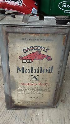 "Vintage Gargoyle Mobiloil ""A"" 5 Gallon Oil Can"