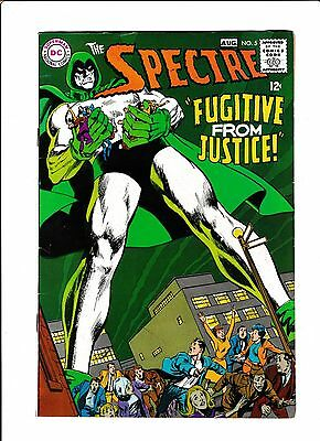 """Spectre  #5  [1968 Vg+]  Neal Adams Cover & Art!  """"fugitive From Justice!"""""""