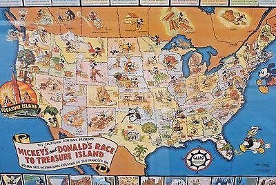 Vintage 1939 Standard Oil of California Map Calso version with stamps applied