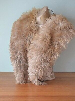 Vintage women's / ladies  caramel fur shawl