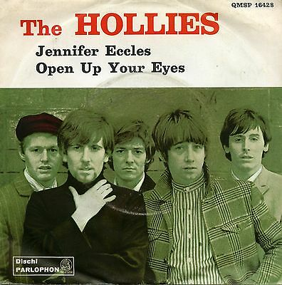 """The Hollies Jennifer Eccles Open Up Your Eyes 7"""" Italy"""