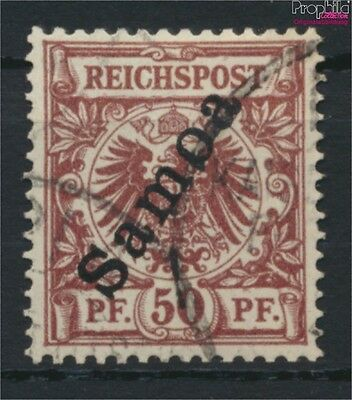 Samoa, German Colony 6 fine used / cancelled 1900 Imperial Yacht (9030034