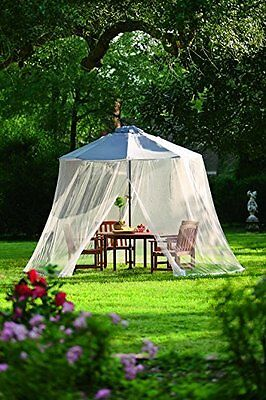 Plow & Hearth Outdoor Umbrella Canopy Mosquito And Insect Net With Zippered - -
