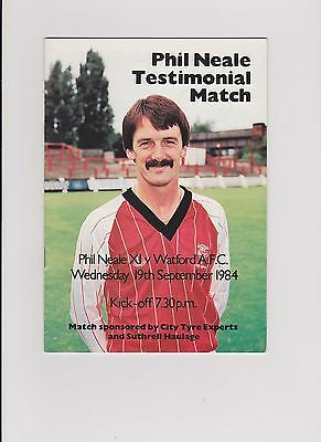 Phil Neale of Lincoln XI v Watford 1984 Phil Neale