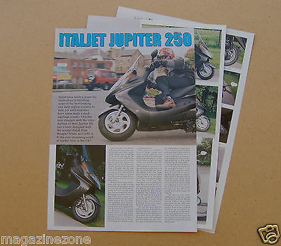 ITALJET JUPITER 250 Scooter 4 page sides magazine article from 2001