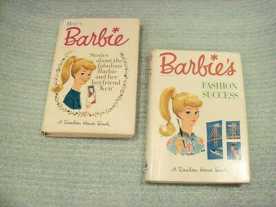 "Lot of 2 1962  ""Barbie's Fashion Success"" & ""Here's Barbie"" Random House Books"