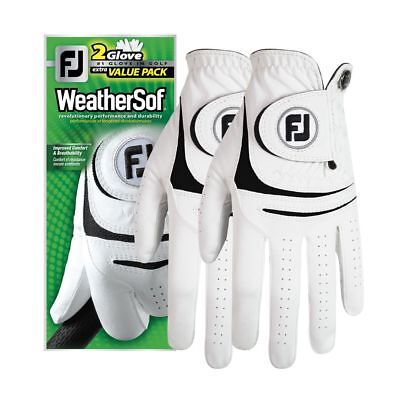 Men's Footjoy WeatherSof Golf Gloves White