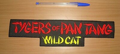 TYGERS OF PAN TANG - WILD CAT LARGE LOGO Embroidered BACK PATCH