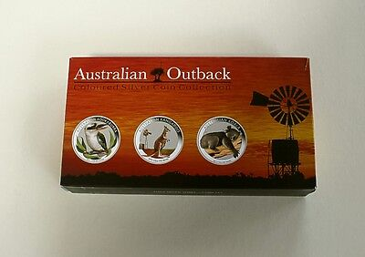 2012 Silver Proof 3-Coin Set Celebrating Animals of Australia