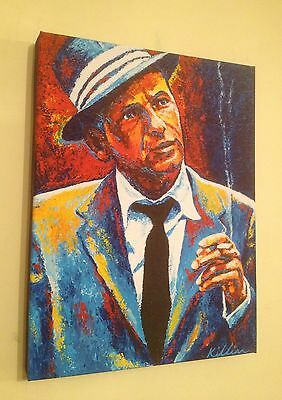 """Frank Sinatra"" Hand Embellished Canvas Art Print By Patrick J Killian"