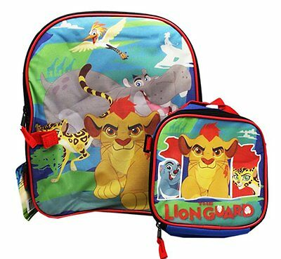 """Leader Of The Lion Guard 12"""" Toddler School Backpack Plus Lunch Bag #395061"""