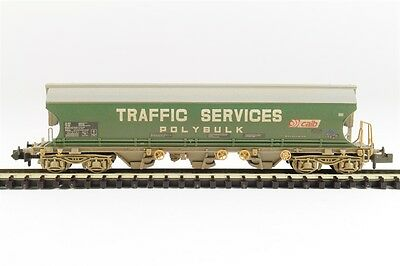 Graham Farish 373-235 Covered Bogie Hopper Wagon Traffic Services WEATHERED